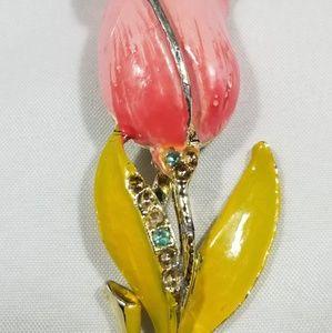 Vintage custom jewelry brooches pin enamel